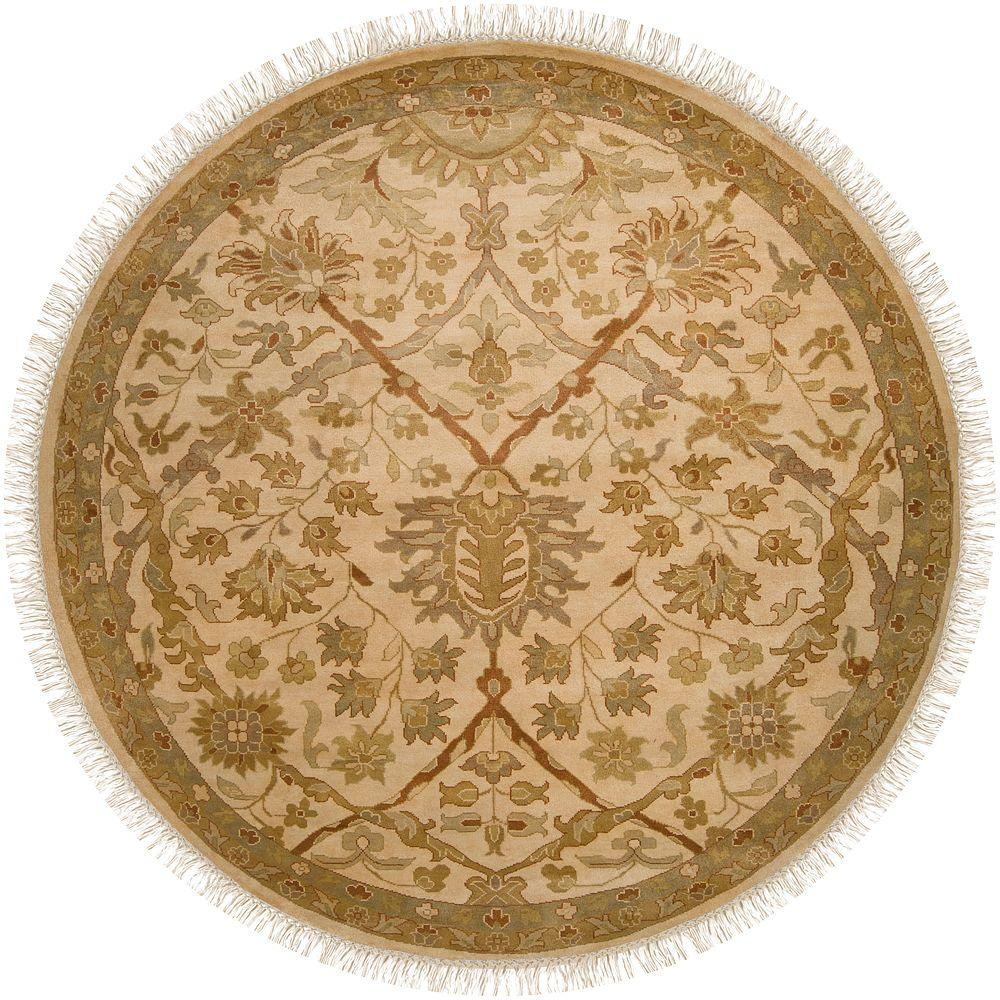 Artistic Weavers Yousef Cream 8 ft. Round Area Rug
