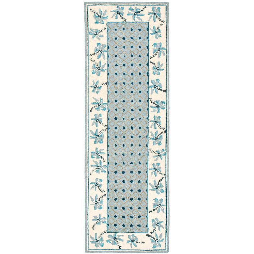 Safavieh Chelsea Blue/Ivory 2 ft. 6 in. x 8 ft. Runner
