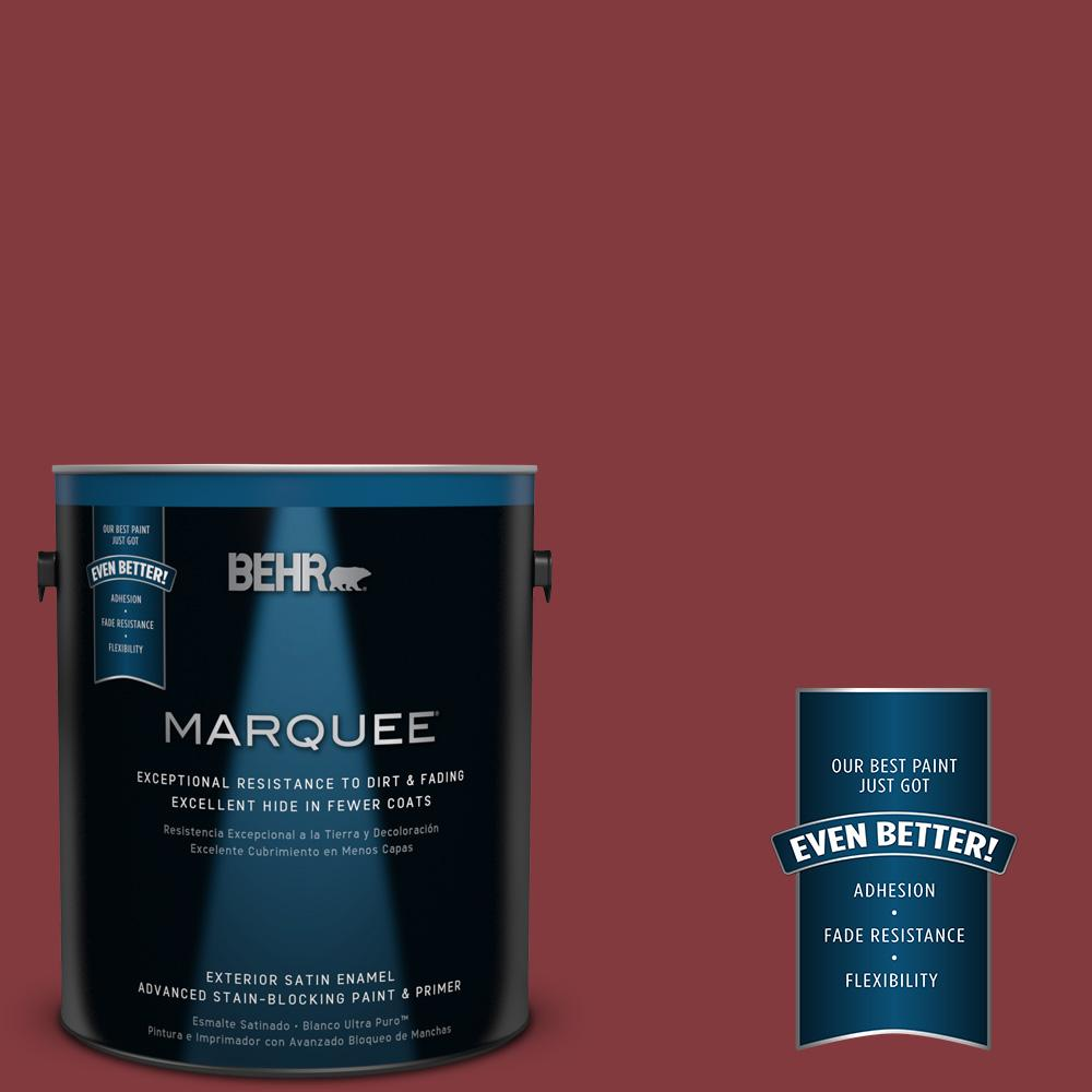 1-gal. #S-H-130 Red Red Wine Satin Enamel Exterior Paint