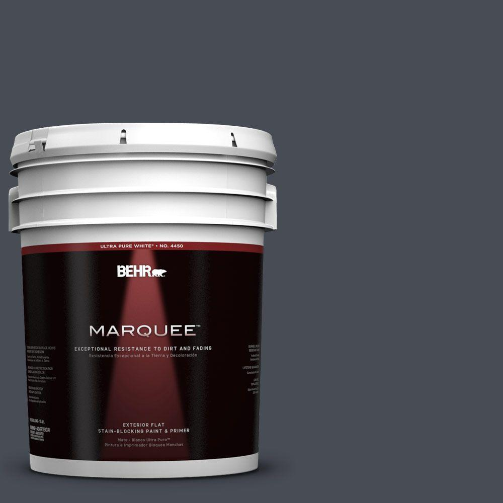 BEHR MARQUEE 5-gal. #750F-6 Sled Flat Exterior Paint