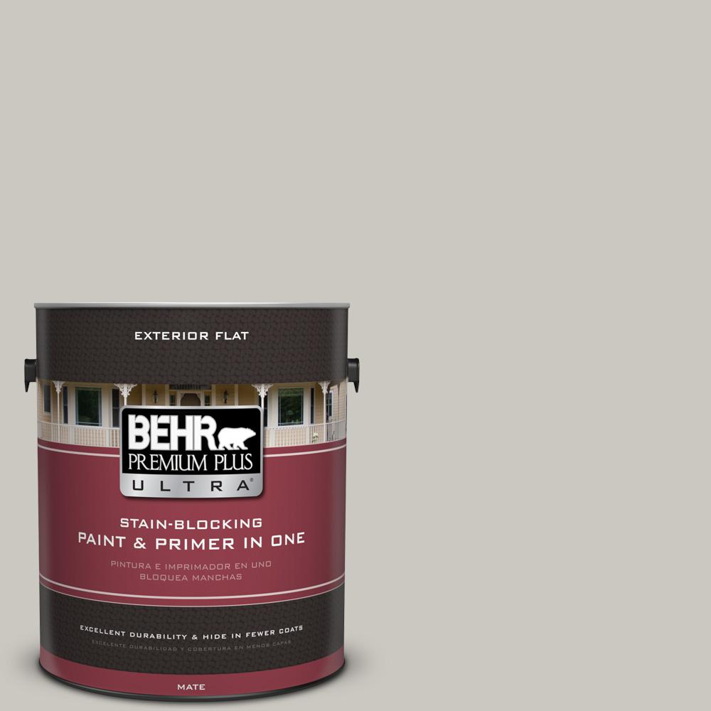 1 gal. #PPU24-12 Whitewash Oak Flat Exterior Paint