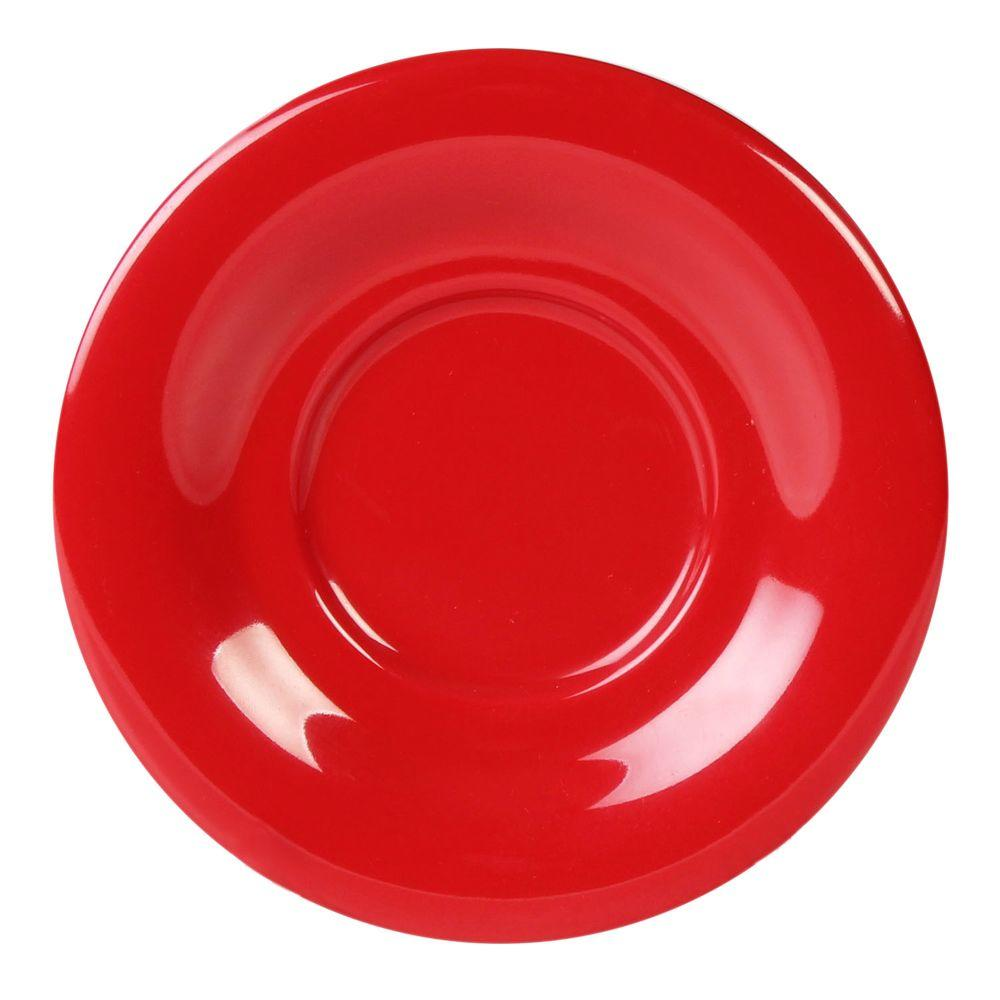 Restaurant Essentials Coleur 5-1/2 in. Saucer for Cr303/Cr9018 in Pure Coleur Red (12-Piece)