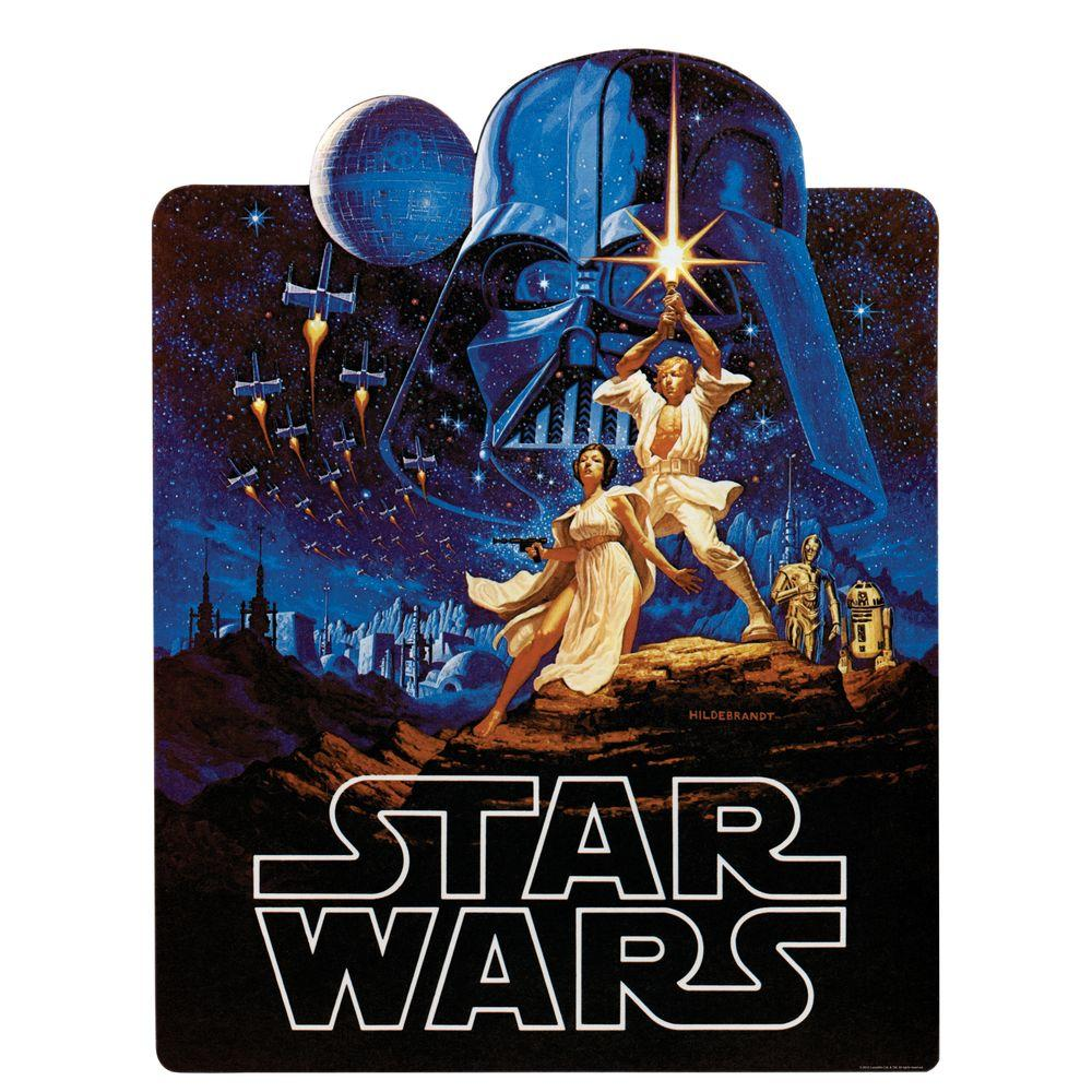 null 27 in. x 40 in. Star Wars Classic - Collage Peel and Stick Giant Wall Decal