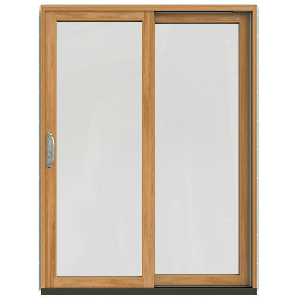 59-1/4 in. x 79-1/2 in. W-2500 Brilliant White Right-Hand Clad-Wood Sliding