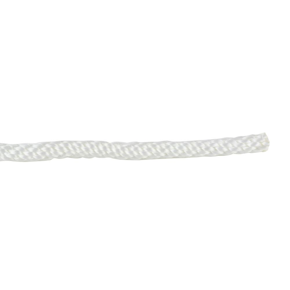 1/4 in. x 1 ft. White Solid Braid Nylon Rope