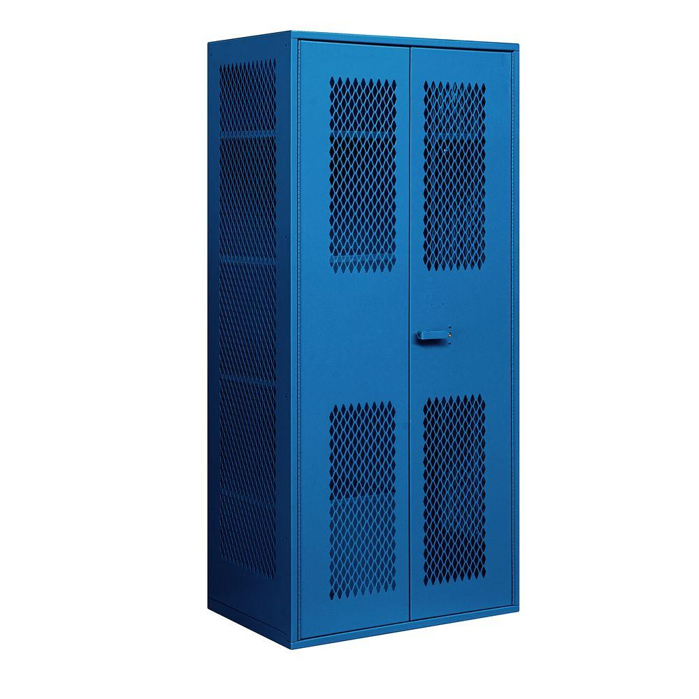 Salsbury Industries 7155 Series 36 in. W x 78 in. H x 24 in. D Military Combination Storage Cabinet in Blue