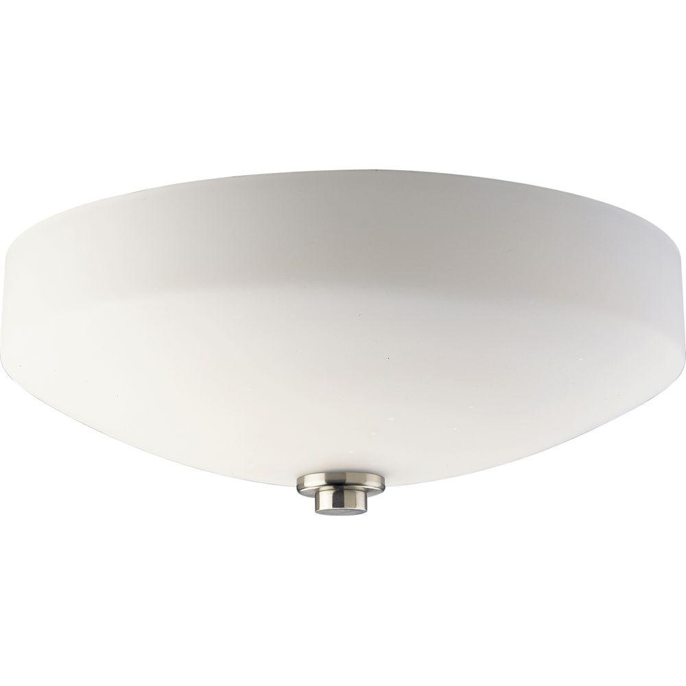 Thomasville Lighting International Collection Brushed Nickel 3-light Flushmount-DISCONTINUED