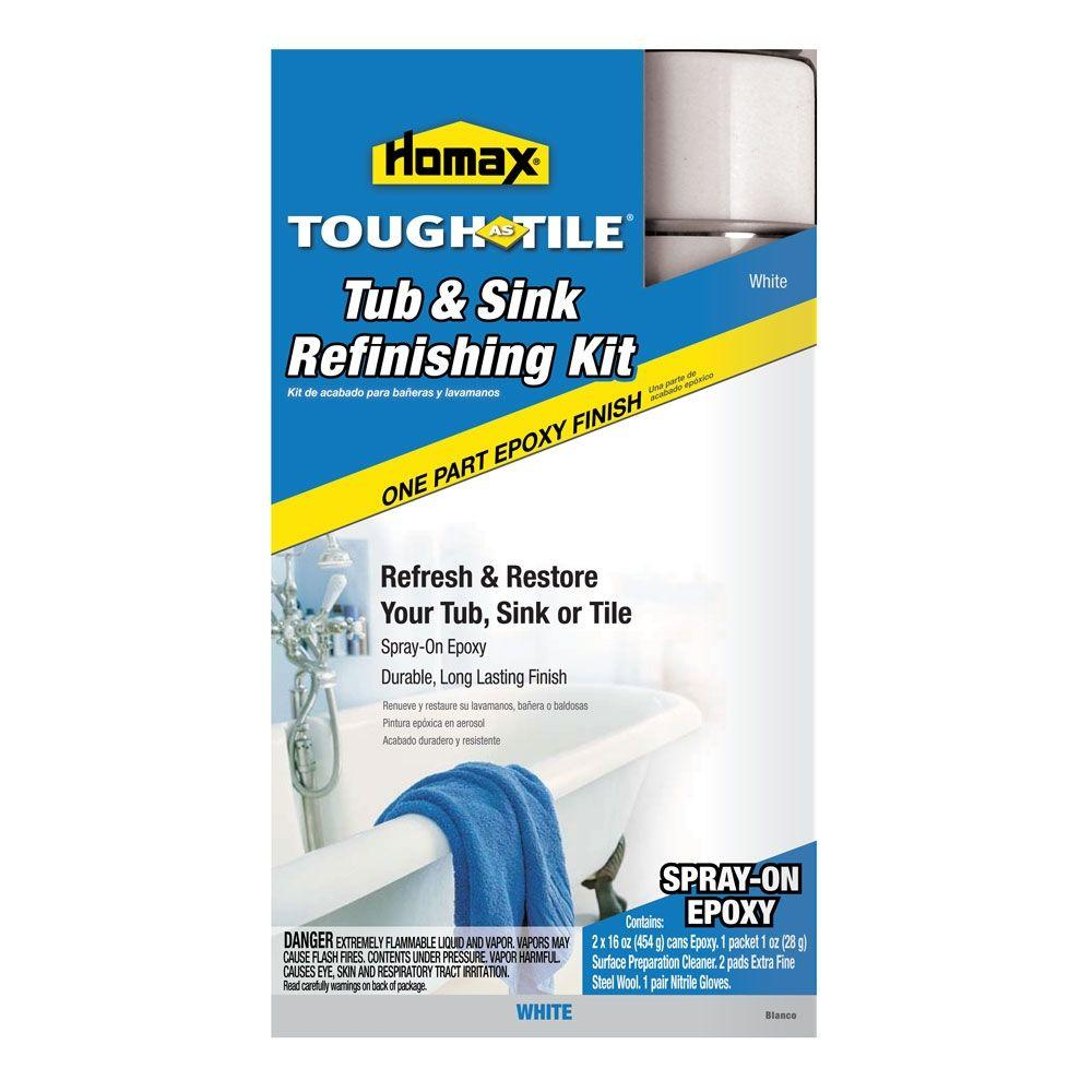homax 32 oz. white tough as tile one part epoxy aerosol (2-16 oz