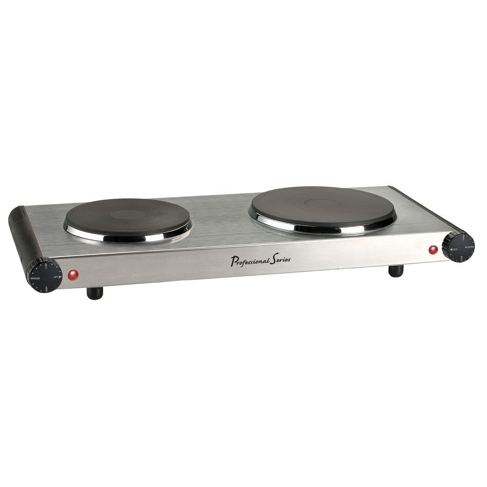 Professional Series Collezioni Double Burner Electric Hot Plate-DISCONTINUED