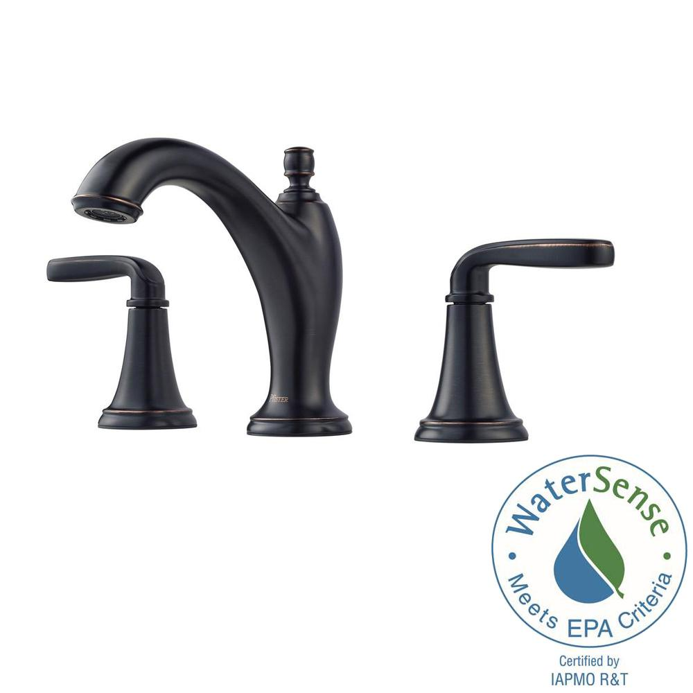 Northcott 8 in. Widespread 2-Handle Bathroom Faucet in Tuscan Bronze