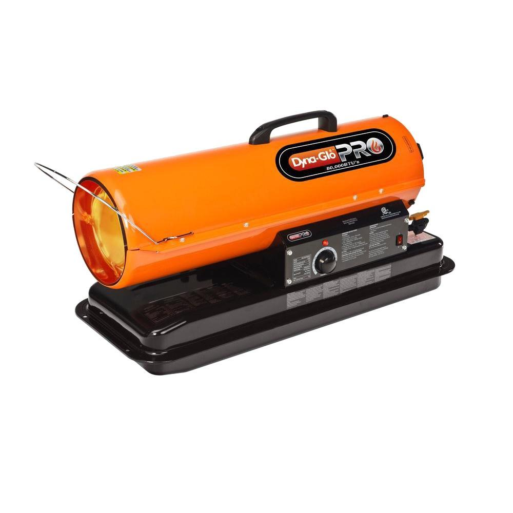 Dyna-Glo Pro 80K BTU Forced Air Kerosene Portable Heater-KFA80H - The