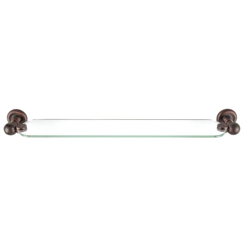 Atlas Homewares Emma Collection 23-1/10 in. Wall-Mounted Shelf in Venetian Bronze-DISCONTINUED