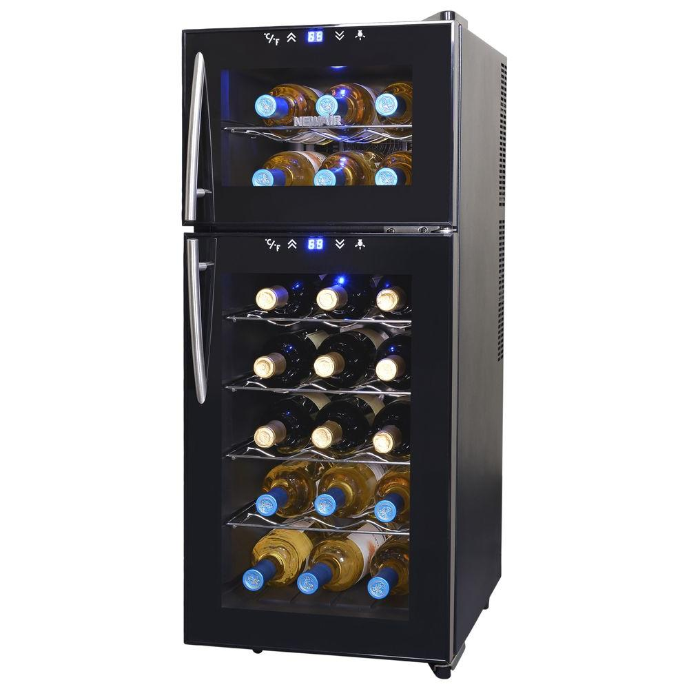 NewAir 21-Bottle Thermoelectric Wine Cooler-AW-210ED - The Home Depot