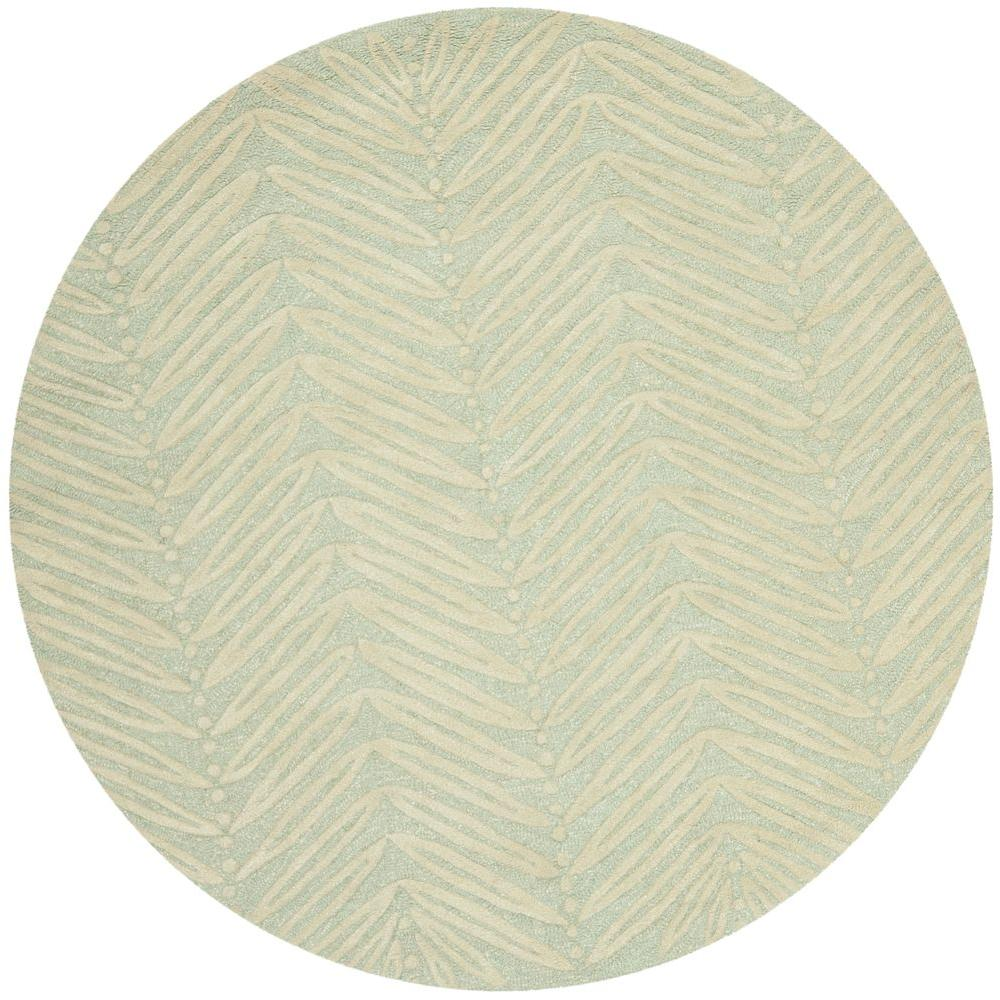 Milk Pail Green 6 ft. x 6 ft. Round Area Rug