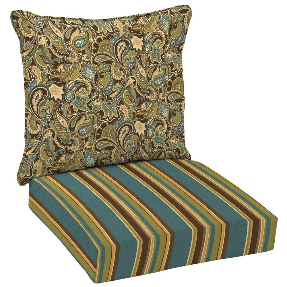 null Lakeside Paisley Deep Seat Pillow Back Set-DISCONTINUED