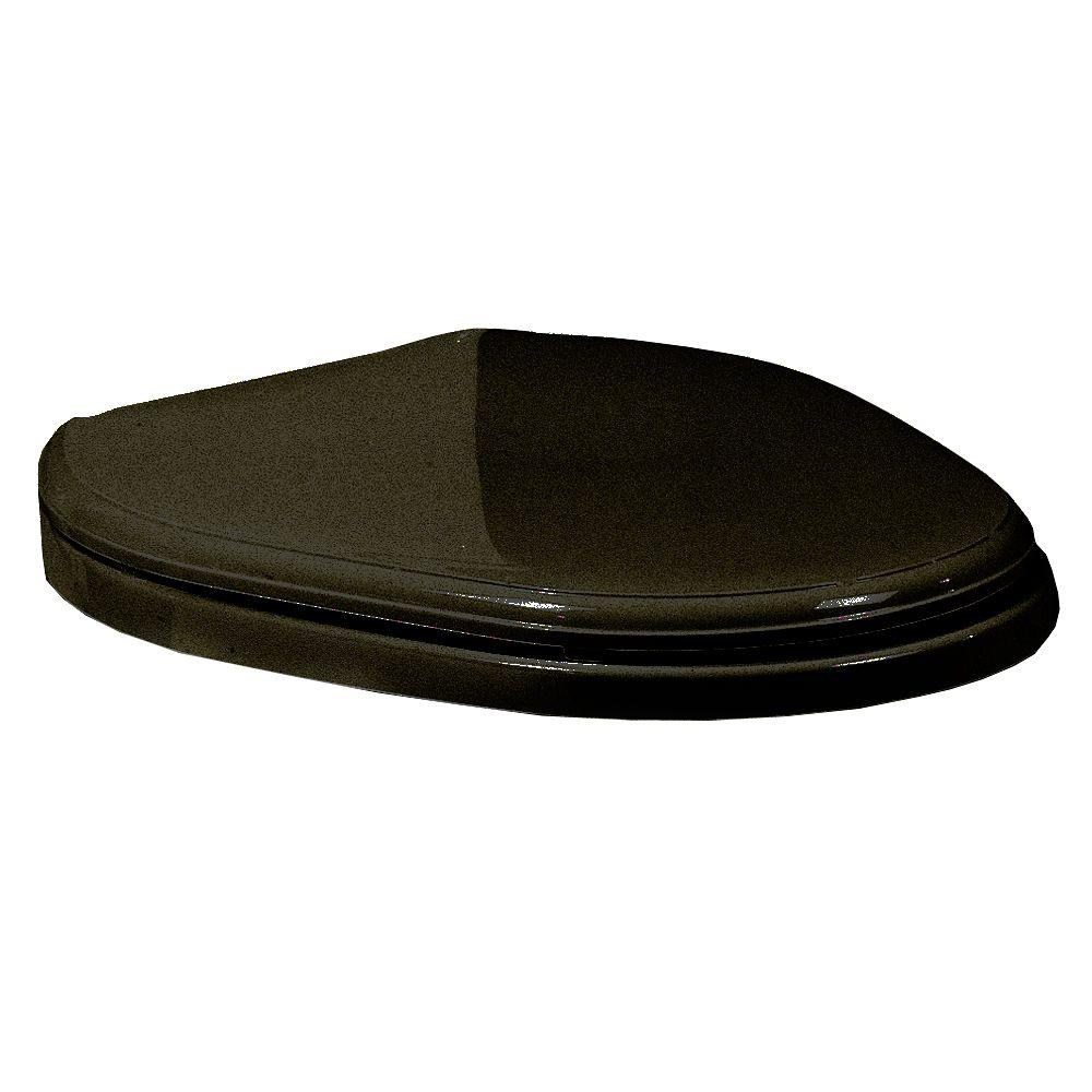 American Standard Heritage Elongated Toilet Seat with Cover in Black-DISCONTINUED