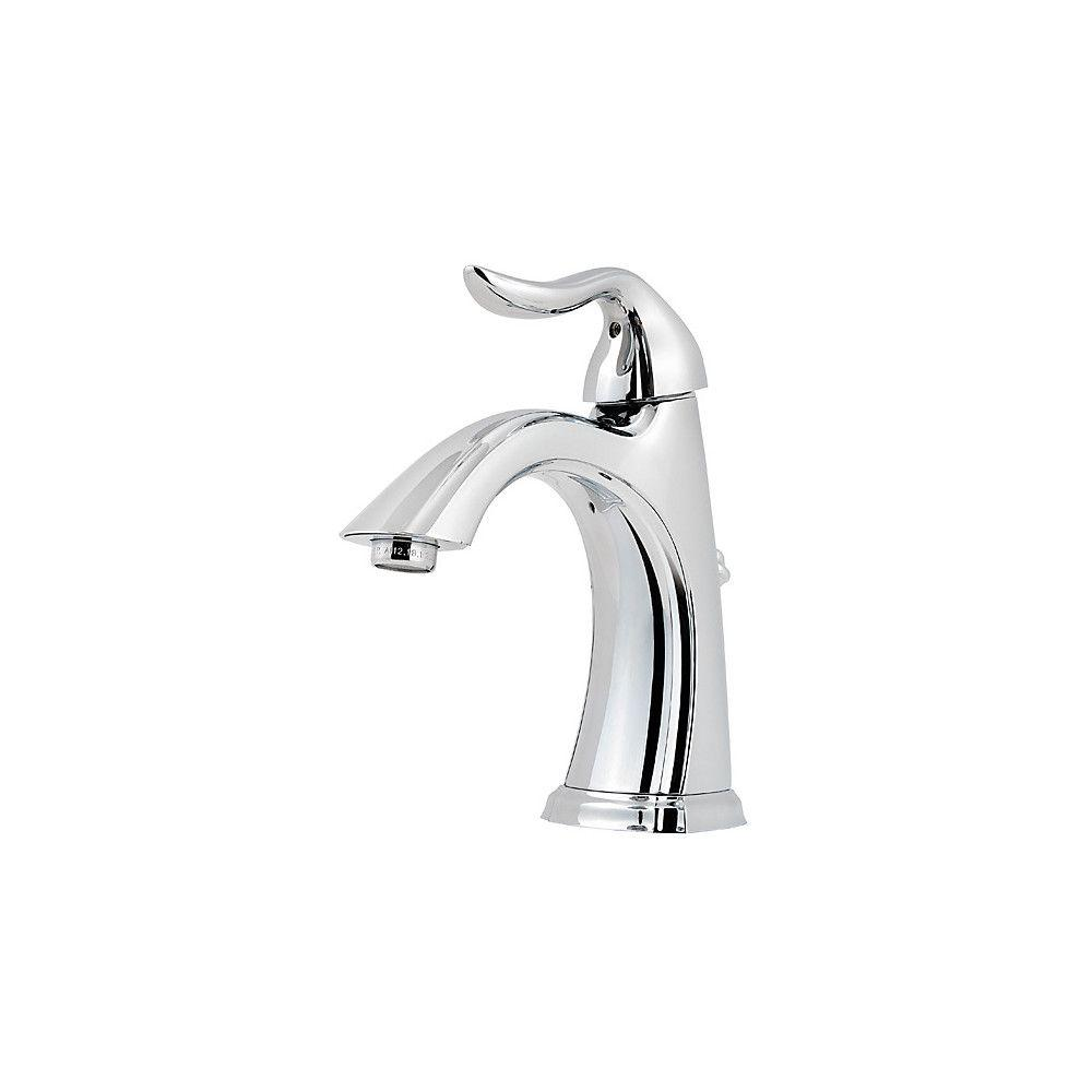 Pfister Santiago 4 in. Centerset Single-Handle Bathroom Faucet in Polished