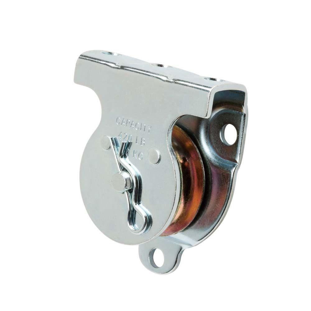 1-1/2 in. Zinc-Plated Wall/Ceiling Mount Pulley