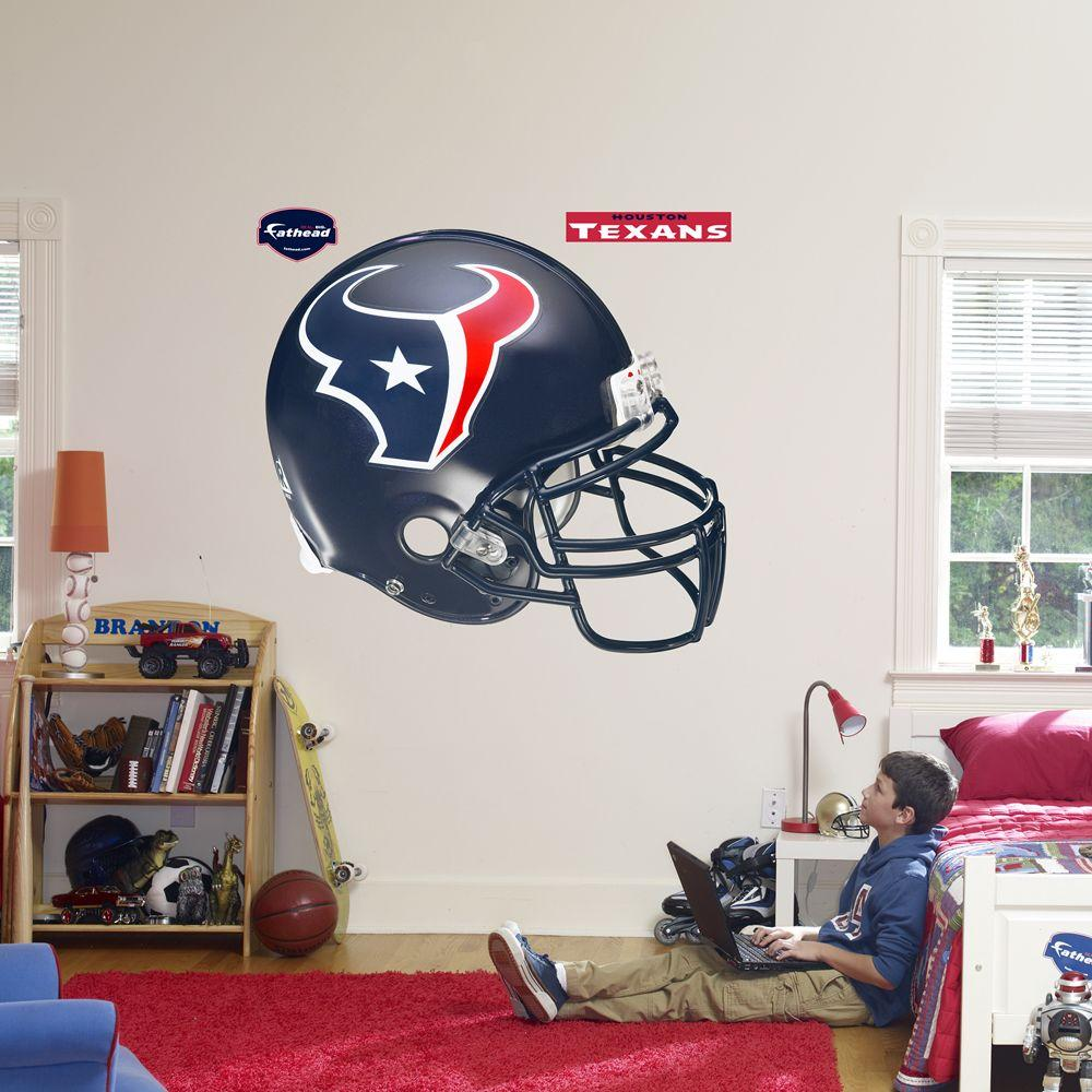 Fathead 57 in. x 51 in. Houston Texans Helmet Wall Decal