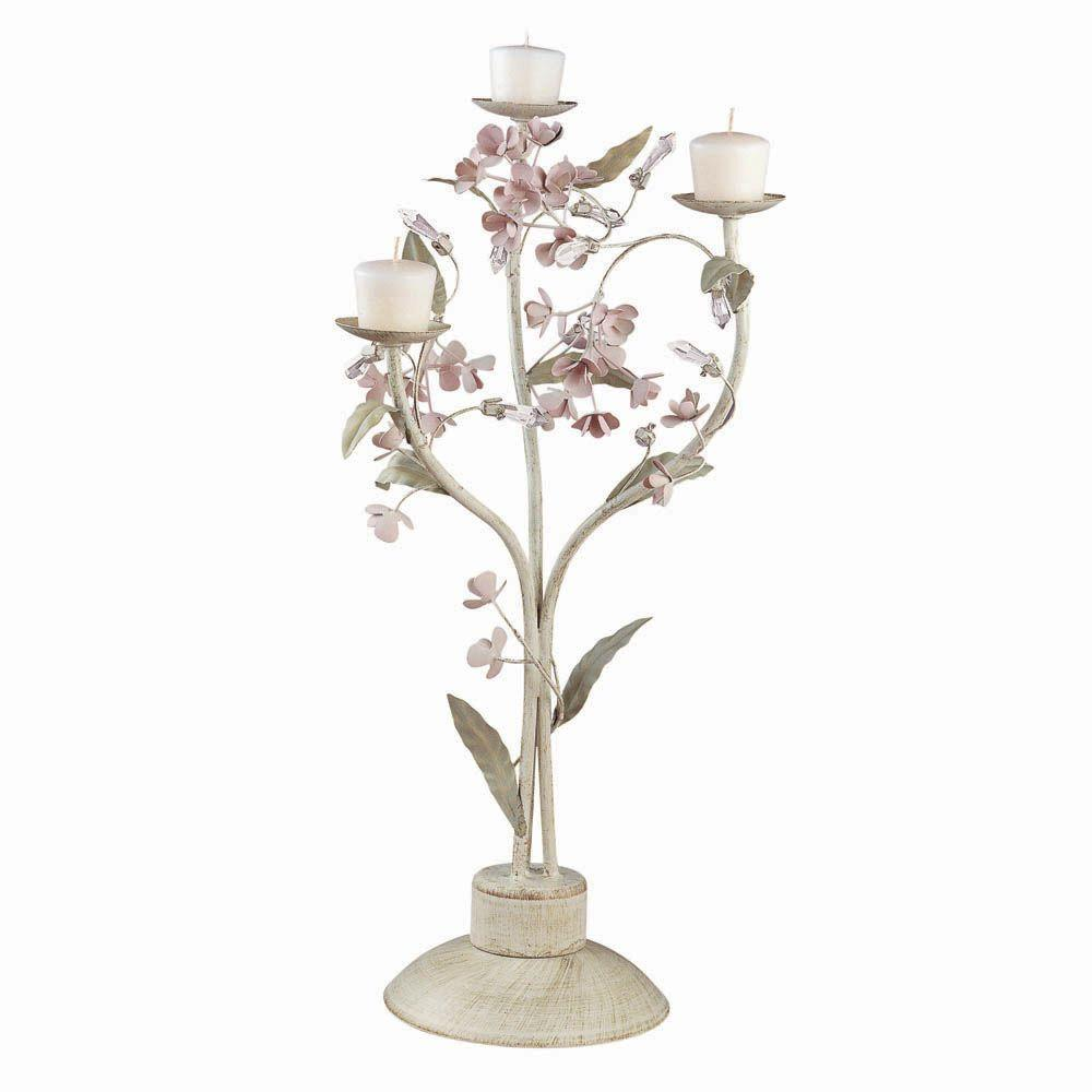 Laura Ashley Blossom Candle Rack in Embossed Greenery