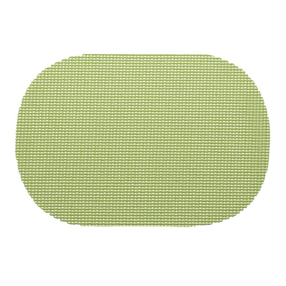 Kraftware Fishnet Oval Placemat in Mist Green (Set of 12)-38236 -