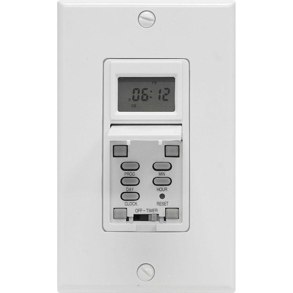 GE 15 Amp 7-Day In-Wall Programmable Digital Timer