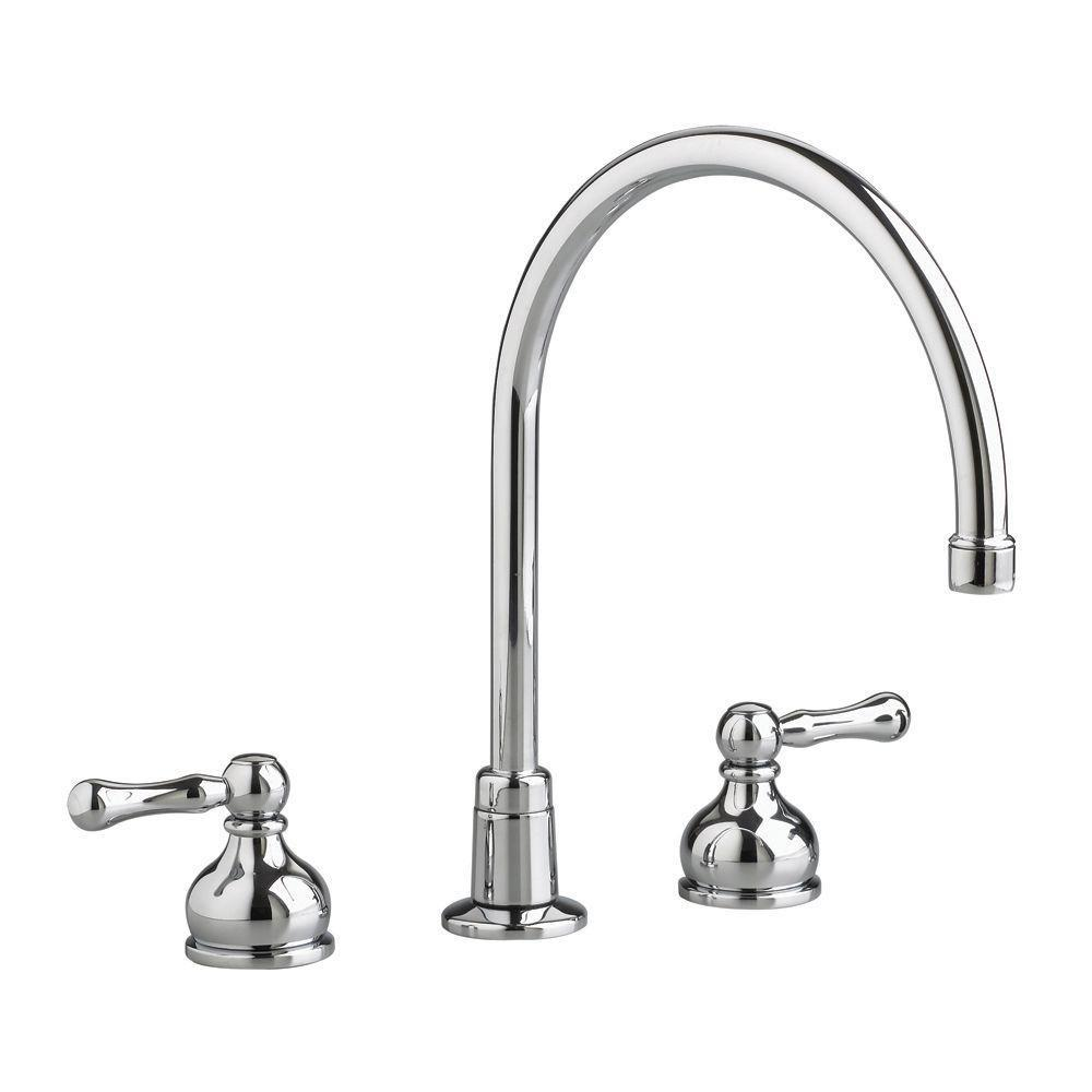 American Standard Heritage 2-Handle Kitchen Faucet in Polished Chrome-Less Handles Less Spray