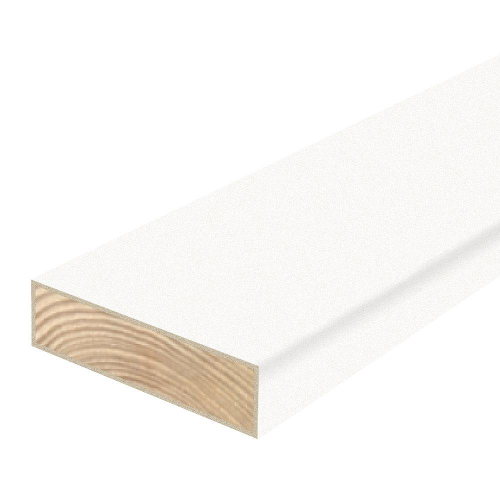 Flooring Plywood Home Depot: Woodguard 2 In. X 6 In. X 8 Ft. #2 DF Polymer Coated White
