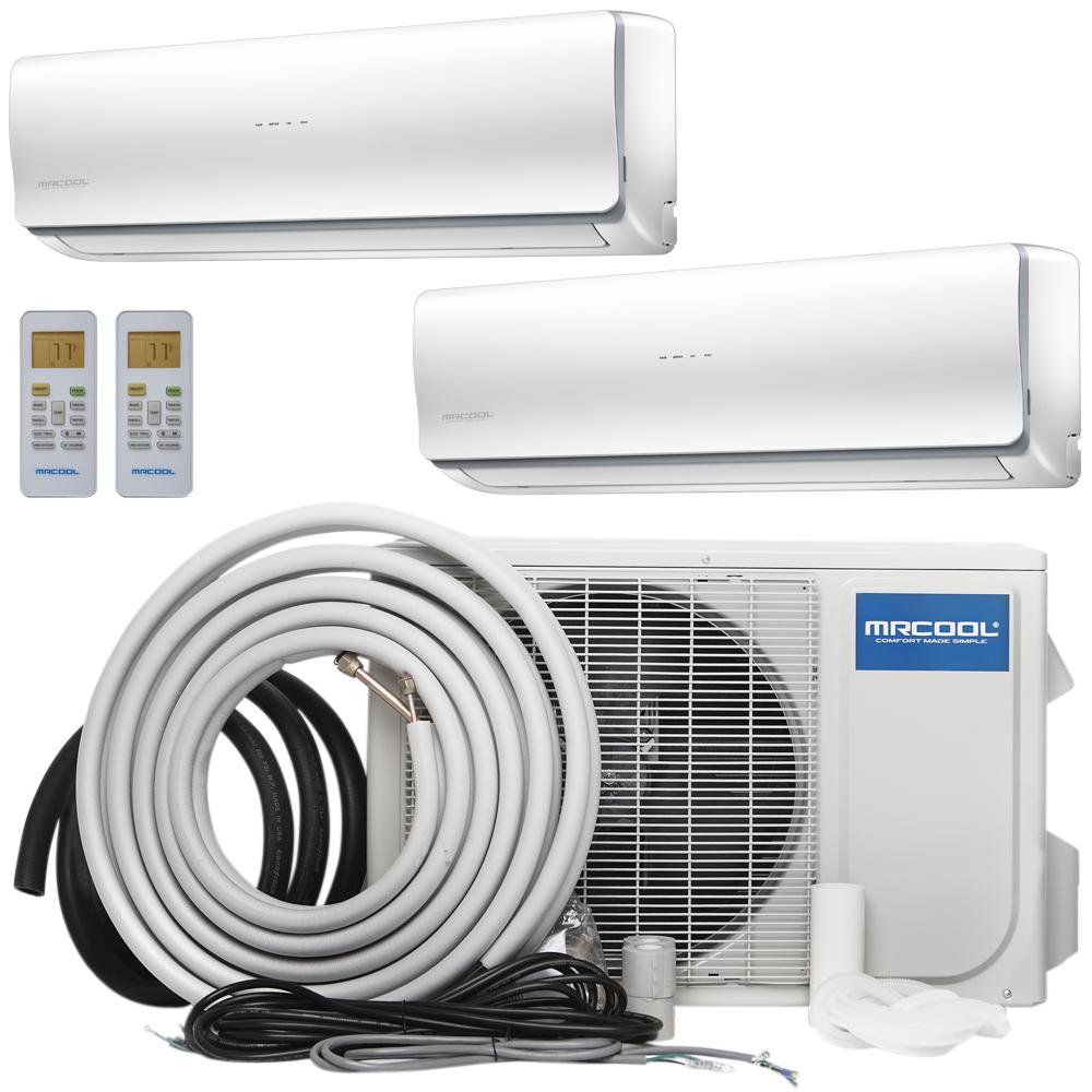 Olympus 27,000 BTU 2.25 Ton Ductless Mini-Split Air Conditioner and Heat Pump, 25 ft. Install Kit - 230-Volt/60Hz, White