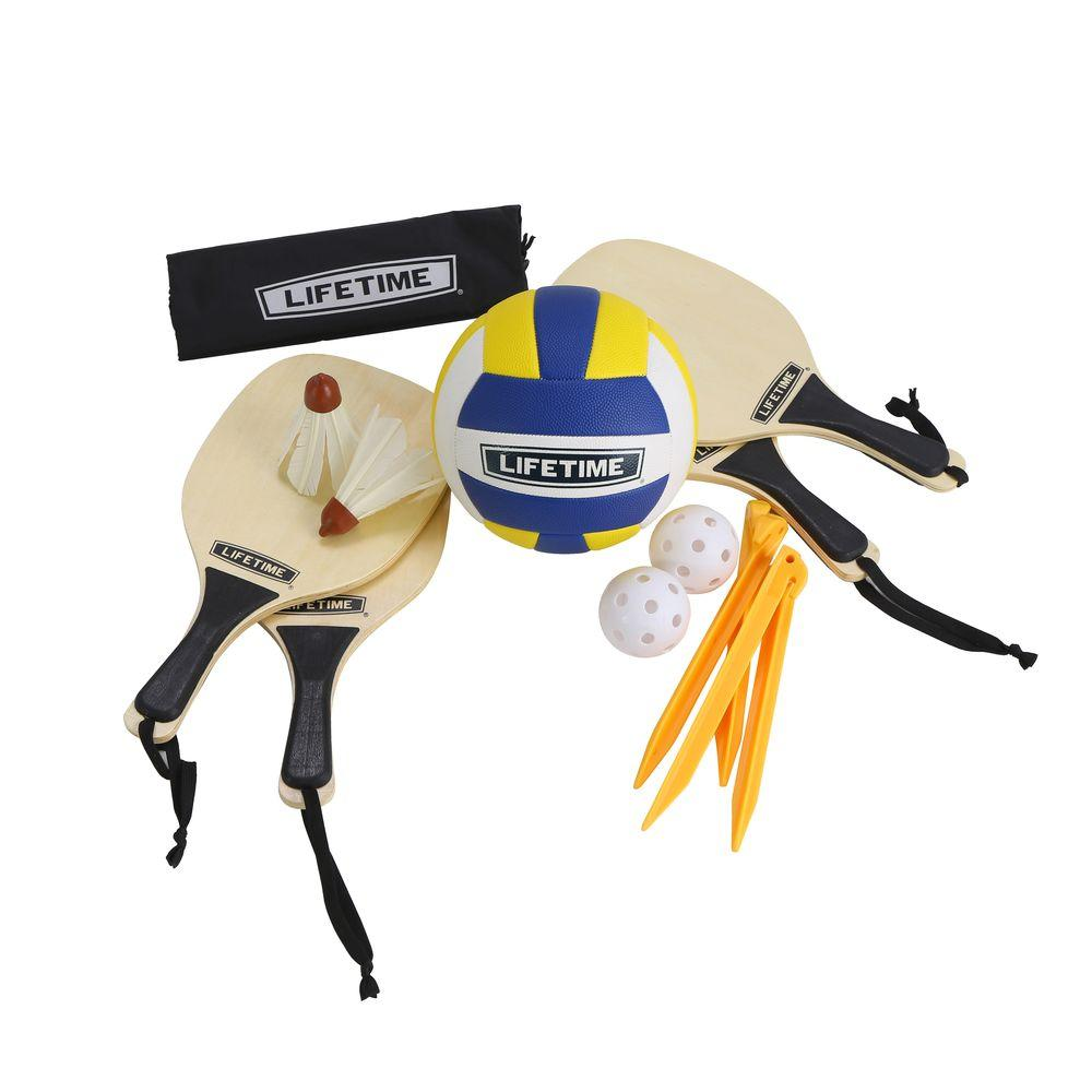 3 Sport Volleyball, Badminton and Pickleball Game Set