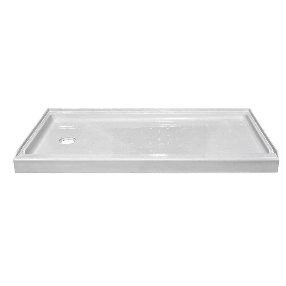 Elite 54 in. x 27 in. Single Threshold Shower Base with