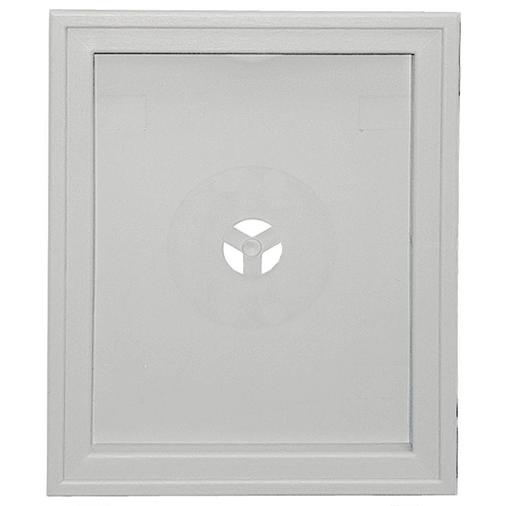 Builders Edge Large Recessed Mounting Block #030-Paintable-130120008030 - The