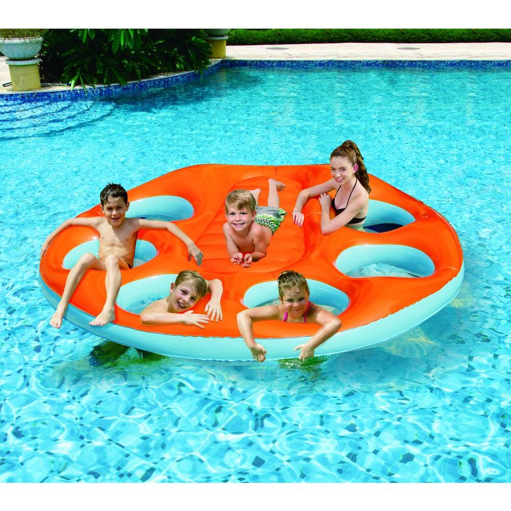 Blue Wave Party Island Inflatable Raft