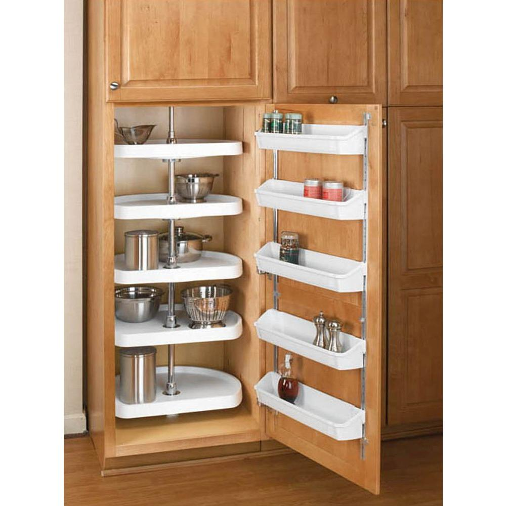 Kitchen Cabinets Lazy Susan Rev A Shelf 62 In H X 22 In W X 22 In D White Polymer 5 Shelf D