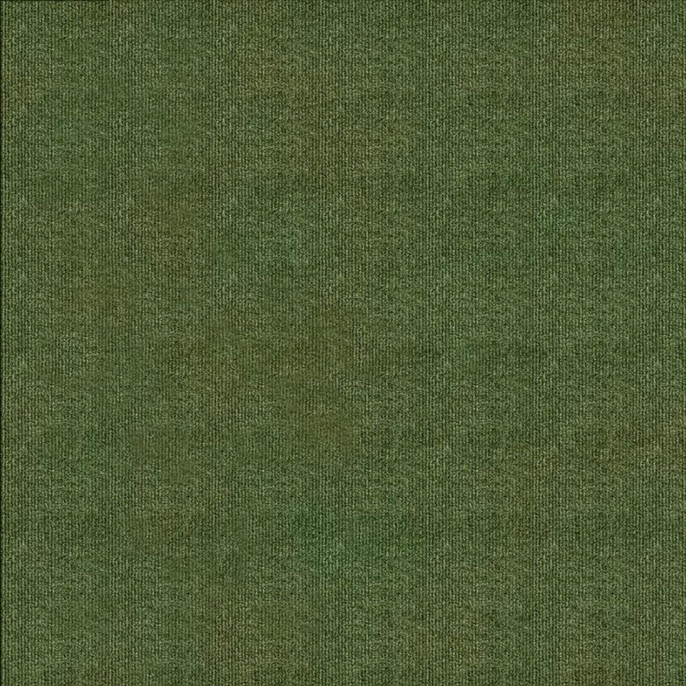 null First Impressions Olive Ribbed Texture 24 in. x 24 in. Carpet Tile (15 Tiles/Case)