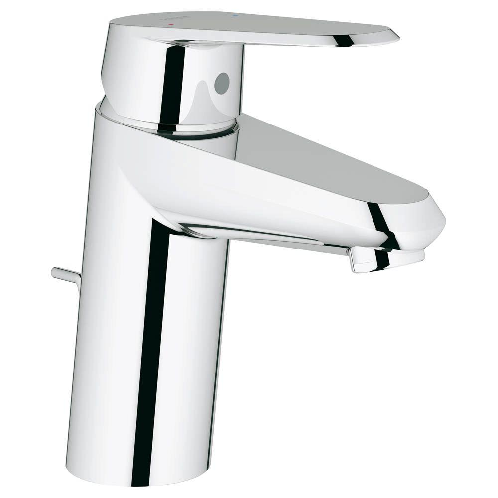 GROHE Eurodisc Cosmo OHM Single Hole Single Handle Low-Arc Bathroom Faucet in StarLight Chrome with Pop-Up