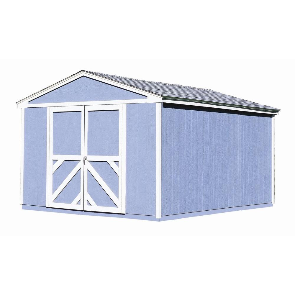 Somerset 10 ft. x 14 ft. Wood Storage Building with Floor