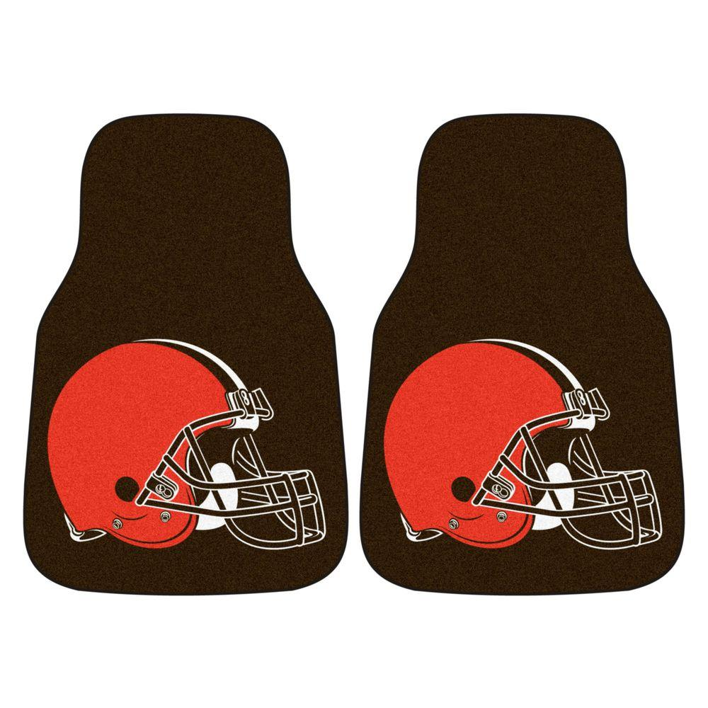 Cleveland Browns 18 in. x 27 in. 2-Piece Carpeted Car Mat