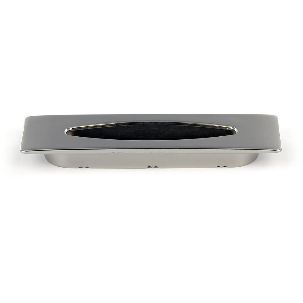 Contemporary 3-25/32 in. (96 mm) Polished Nickel recessed pull