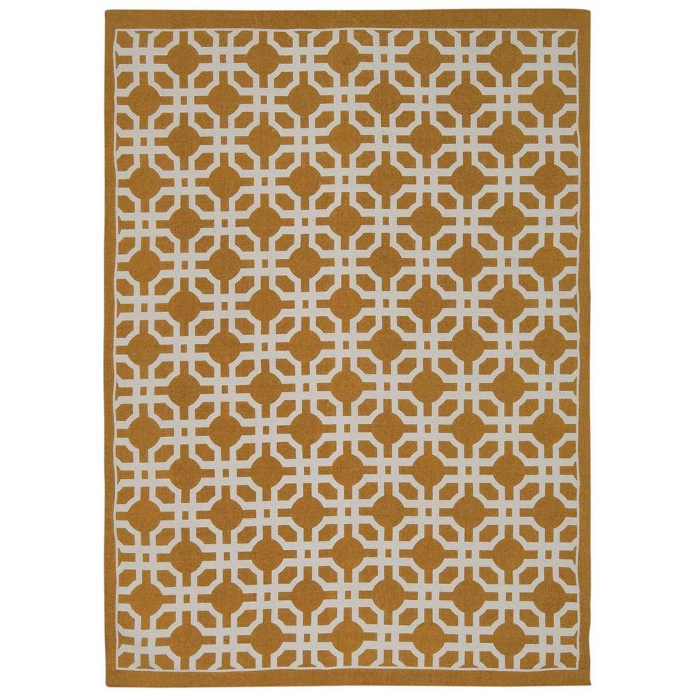 Art House Gold 5 ft. x 7 ft. Area Rug