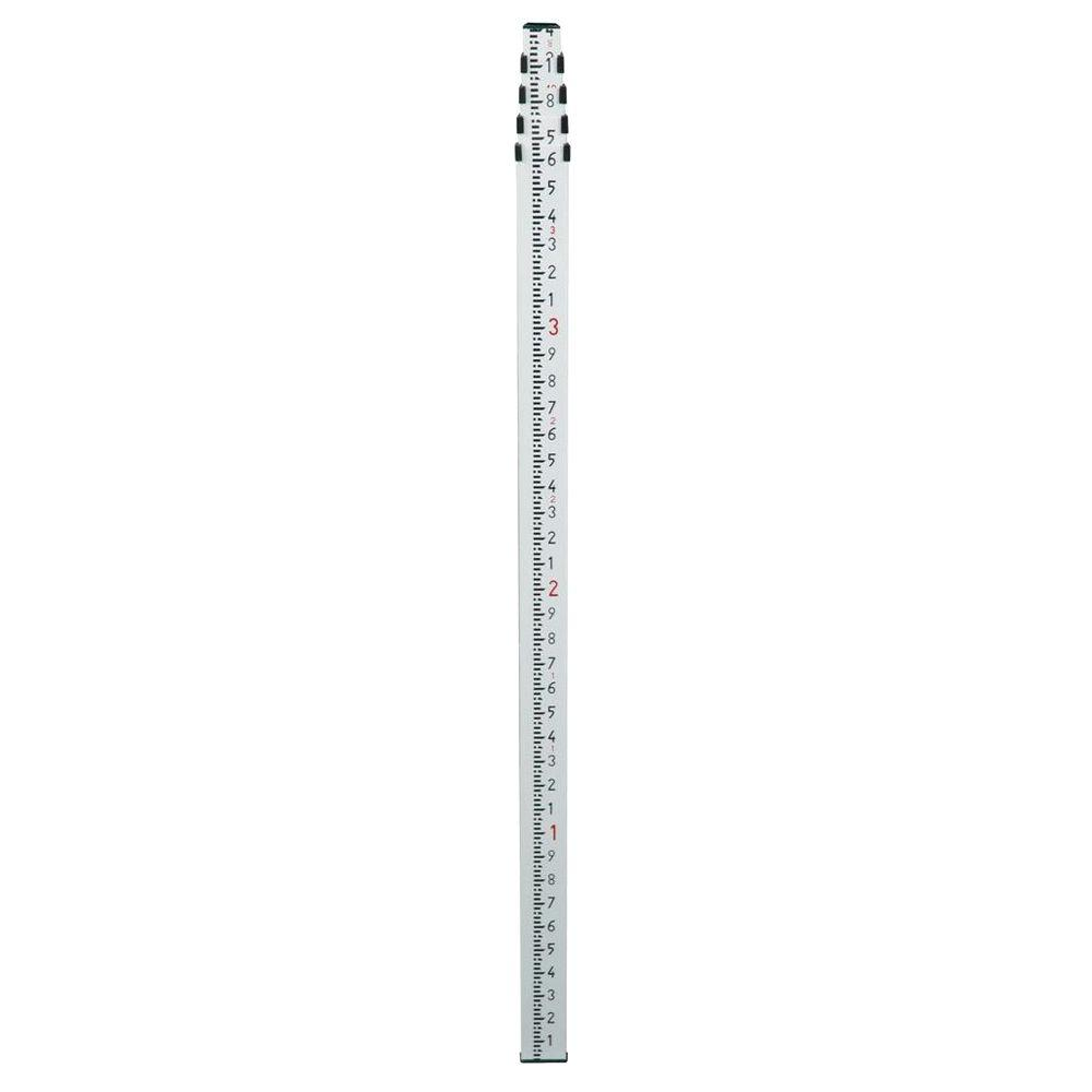 Spectra Precision 15 ft. Aluminum Telescoping Grade Rod with 10ths Scale-GR151