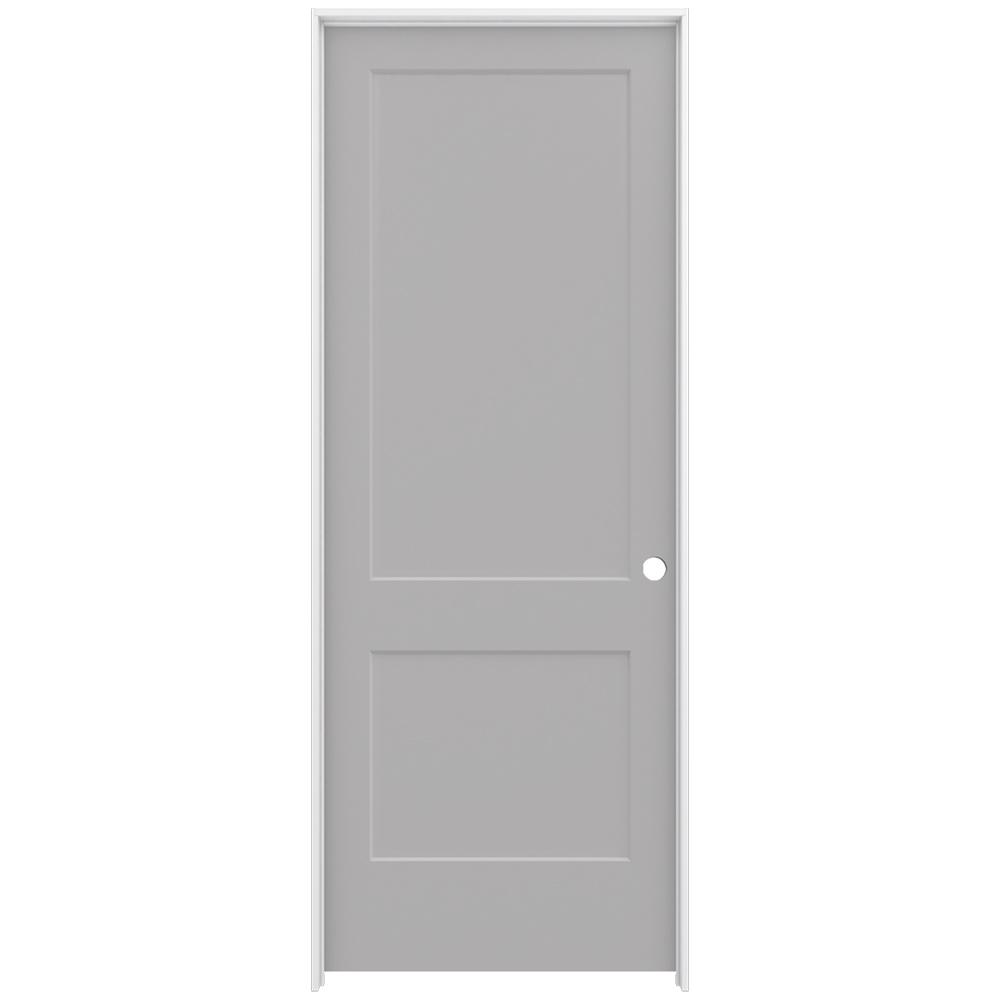interior panel doors home depot jeld wen 36 in x 96 in smooth 2 panel driftwood solid 24505