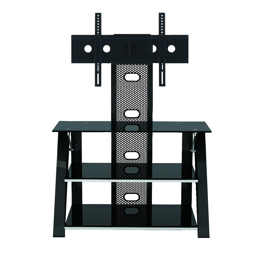 Z-Line Designs Black Glossy Cruise Flat Panel TV Stand with Integrated Mount-DISCONTINUED
