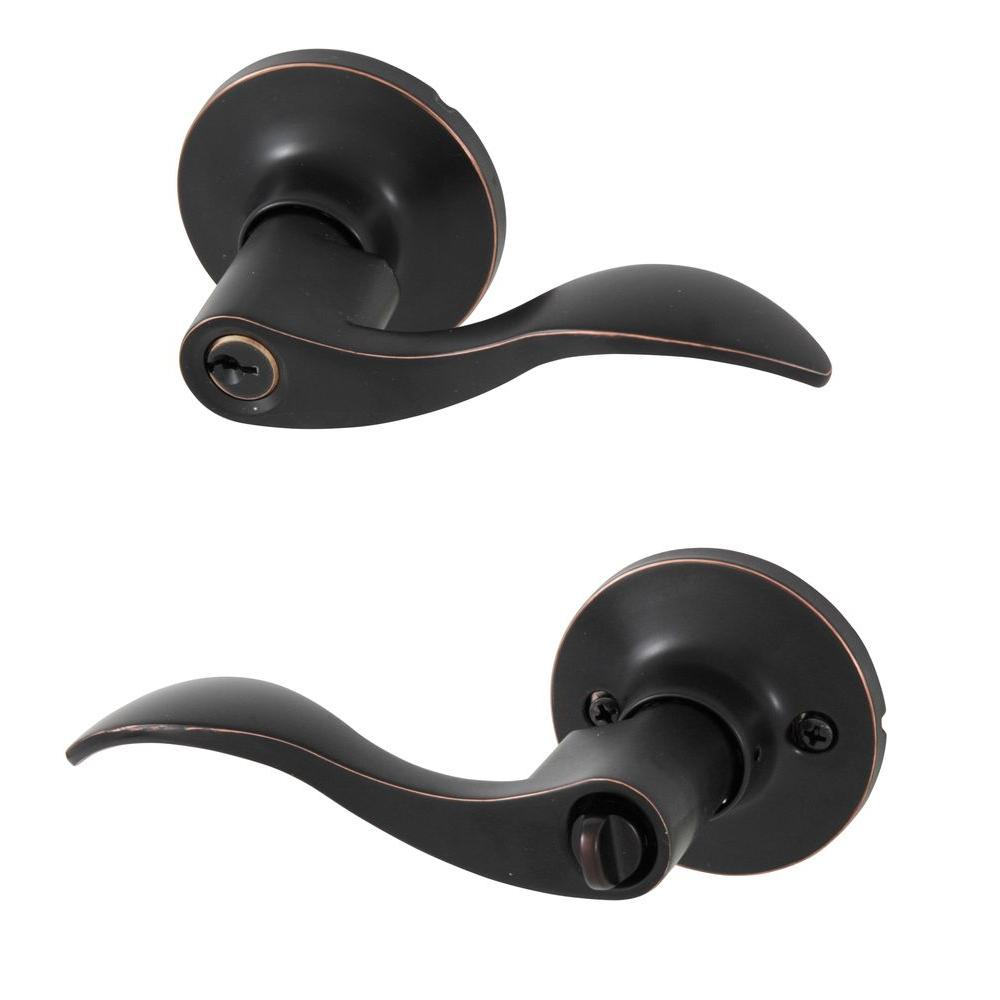 Wave Oil Rubbed Bronze Entry Lever