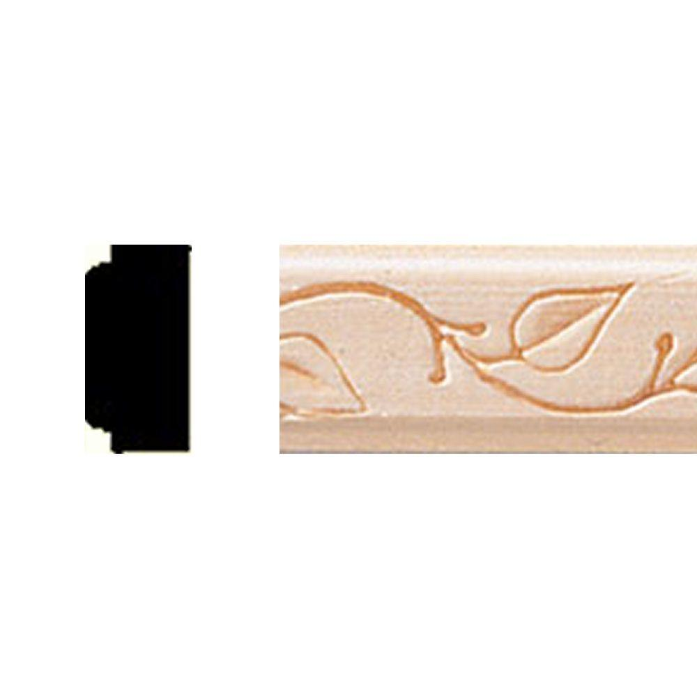 3/8 in. x 3/4 in. x 8 ft. Basswood Embossed Vine