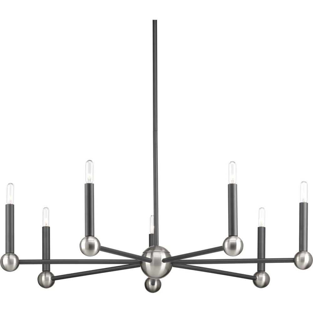 Foton Collection 7 -Light Graphite Chandelier