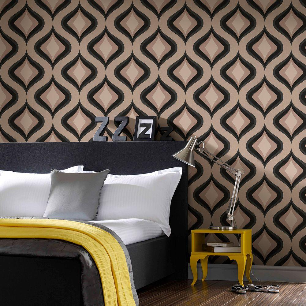 Graham & Brown 56 sq. ft. Trippy Gray Wallpaper