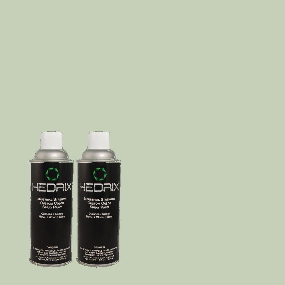 Hedrix 11 oz. Match of MQ3-49 Jade Tinge Low Lustre Custom Spray Paint (2-Pack)