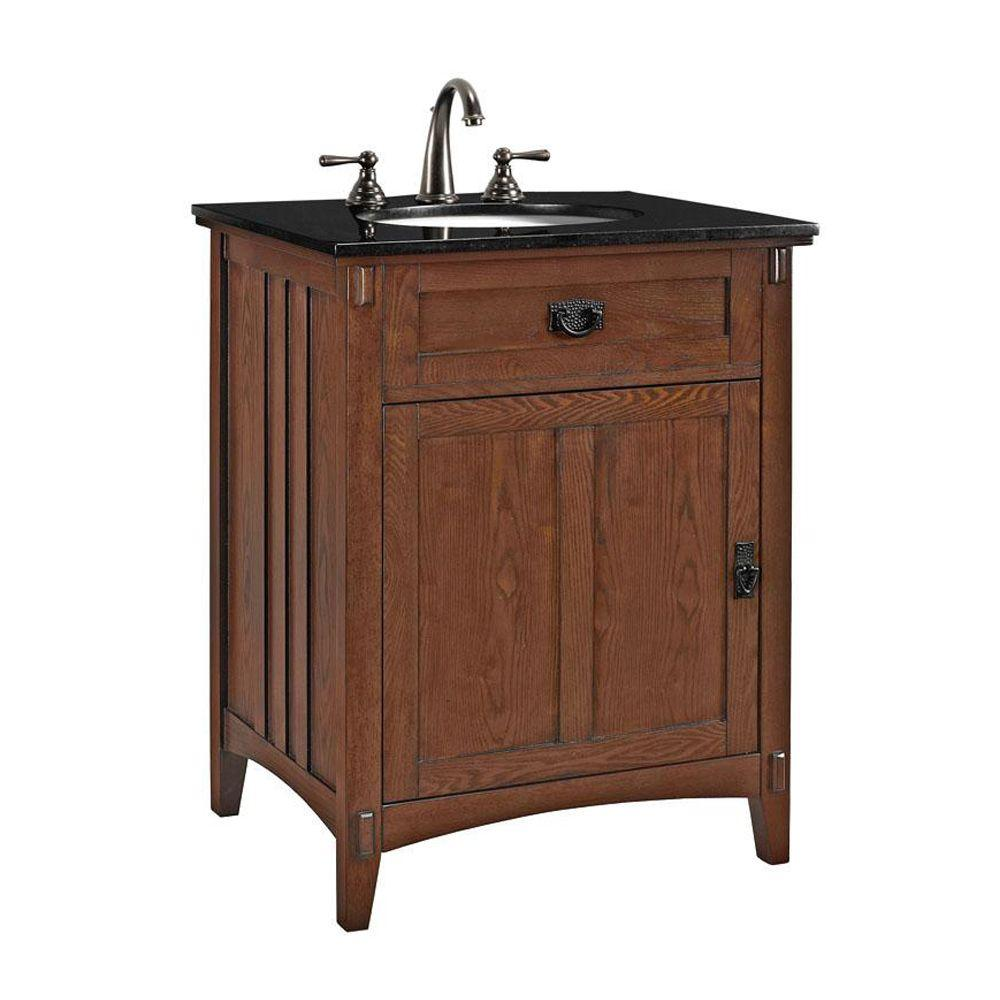Home Decorators Collection Artisan 26 In W Vanity Cabinet Only In Light Oak 0426200950 On Popscreen