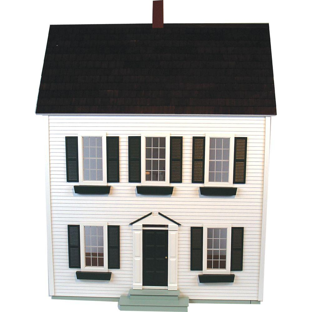 null White Classic Colonial Dollhouse